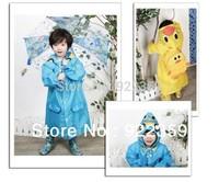 Free Shipping 1 Pc 5 Colors Kinds' Rain Coat / Rainwear /Rainsuit Waterproof Auto-Duck-Bunny-Frog For Unisex