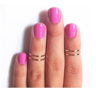 2013 Hot Sale Fashion Gold Silver Copper Rings Joint Rings Designer Finger Rings Jewelry For Women Gift 4 pieces a set