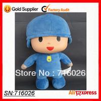 "Free shipping! 2013  Bandai Pocoyo Soft Plush Stuffed Figure Toy Doll 12"" 30cm tall PATO/ELLY/LOULA for children kids toys gift"