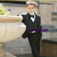 Retail 1 set 2013 New High quality Children clothing set suit boy kids suits blazers wedding wear 9 pcs free shipping CC0177