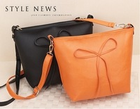 2013 New Handbag Wholesale Korean Fashion Shoulder bag Big bow PU Leather Handbag Bag Messenger Bag BG25