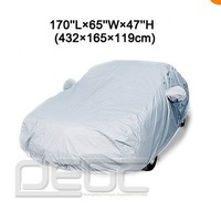 All Weather Outdoor S Size Breathable Car Cover 160''L*65''W*47''H 406*165*119cm