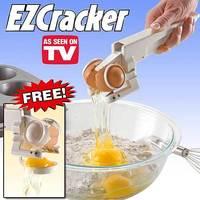 1Pcs/Lot+EZCracker Crack, Peel & Separate Eggs Perfectly. Good-Bye Shell Chips Handheld Egg Cracker/egg ez cracker/easy cracker