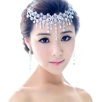 Rainbow chokecherry Star RHINESTONE BRIDE Head band clip  Bridal Wedding Party Prom JEWELRY  free shipping
