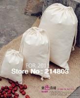 W12*H15cm wholesale small plain cotton muslin drawstring  pouch bag  free shipping