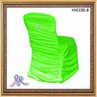 Free Shipping-2013 New Design Pleated Spandex Chair Cover With Diamond Buckle
