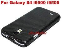 2013 New Slim Flip Case Carbon Fiber Case Leather Case Mobile Phone Case  For Samsung Galaxy S4 i9500 i9505