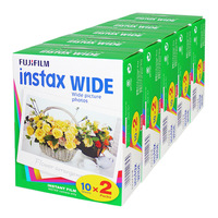 FujiFilm Instax wide Instant Film Twin Pack - 5 Twin Packs 100 photos