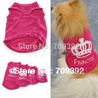 Pet Dog Cat Cute Princess T-shirt Clothes Vest Summer Coat Puggy Costumes Outfit