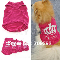 Pet Dog Cat Cute Princess T-shirt Clothes Vest Summer Coat Puggy Costumes Outfit[210402]