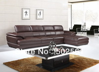 2014 new modern real top grain leather corner sofa leisure style living room furniture