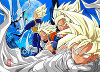 11 Dragon Ball Z cartoon 33''x24'' inch wall Poster with Tracking Number