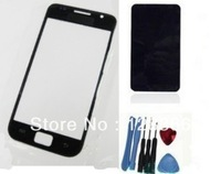 Best price. Black  Outer Screen Glass Lens cover For Samsung Galaxy  S i9000 i9001+ToolS+Adhesive