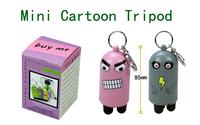 Colorful mini 3 sections cartoon travel portable Keychain tripod
