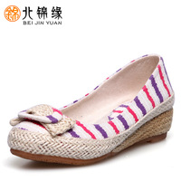 2013 women's cotton-made cotton made embroidered bow shoes cotton-made beijing women's single shoes