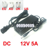 10pcs/lot Freeshipping! Power Supply 12V 5A 60W AC to DC Adapter for 3528 5050 LED Strip Light