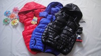 free shipping wholesale 6pcs/lot baby vest winter,boys sport vest,kids winter Waistcoats,children Down jacket clothes