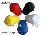 Wholesale Baseball Snapback Cap Trucker Hat Mesh Back Sport Style Custom Logo Screen Printing 100 pcs/lot Fast Delivery