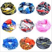 Wholesale 50pcs NEW Fashion Men Sport Handband Women Scarves Hair Bands Mens Headbands Womens Multi Neck Ring Scarf Biker Summer