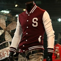 2013 Free Shipping Hot-selling Fashion male jacket s letter baseball shirt baseball uniform
