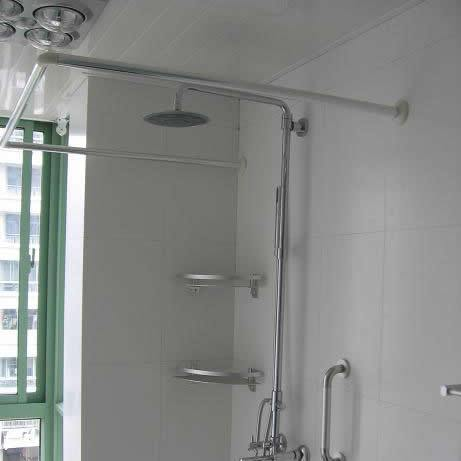 Curtain curtain round toe screws stainless steel shower curtain rod curtain rod hole-digging 90 90(China (Mainland))