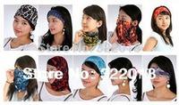 Wholesale 50pcs COOL Men Motorcycle Scarf Headband Women Hair Bands Mens Headbands Womens Racing Loop Sport Scarves Biker Autumn
