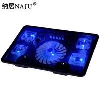 free shipping N5 big 5 fan laptop cooling pad 14 15 15.6 17 computer radiator rack cooling pad base