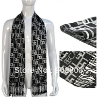 Min.order $15 free shipping ,New designer fashion 2013 winter black and grey tone style knitting men's scarf wraps ,NL-1838