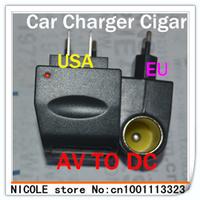 In stock free shipping 12V Household Car Charger Cigar Cigarette Lighter 110V-220V AC to 12V DC EU Car Power Adapter Converter