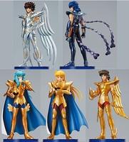 4.8 inch Solid PVC Saint Seiya Action Figures toy Collection 5 pcs/lot 1-generation Saint Seiyaer
