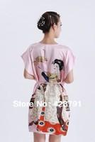 DHJKL   Elegant Nightgown Kimono Robe Sleepwear Dress One Size women's pajamas  DNMK14