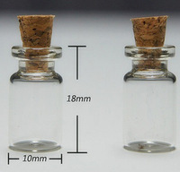 Free Shipping - 500/lot 0.5ml Mini Glass Bottle with wood cork, sample vials.wishing bottle,1ml,2ml till 300ml are available