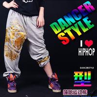 free shipping hiphop Hiphop hip-hop bronzier sports pants , hypertensiveperson jazz pants dancer Women large sports pants