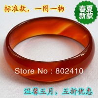 Natural agate standard natural red agate bracelet send mom free shipping
