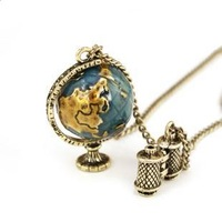 hot 2013 new fashion jewelry women Wholesale vintage globes long pendant necklace 24pcs/lot
