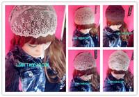 Supernova sale korean 4style wide brown flower lace headband hand made elastic hair bands headbands hair accessories for women
