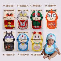 Free Shipping, Burp Cloths, Fashion baby bibs, Lovely modeling bibs, 100% cotton bibs, Hat+bib suit, Anpanman/Doraemon/Ultraman
