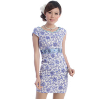 Cheongsam summer new arrival 2012 fashion o-neck cheongsam dress 2923