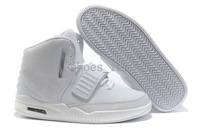 Free Shipping Wholesale Drop Shippnig Acceptable Yeezy II 2 Men's Basketball Sport Footwear Trainers Shoes - White / Grey