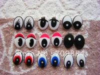 free shipping!!! 500pcs/lot 14*20mm mixed color animal eye safety eyes flat back eyes