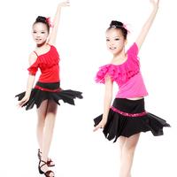 Latin dance clothes female child Latin dance skirt child Latin dance leotard 6114