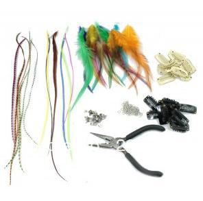 Hot Sale Make Clip In Feather Extensions By Yourself- 36 feathers+Kits you need!
