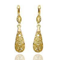 18K Gold Plated Earrings, Czech Crystal Earrings wholesale 18K Gold Jewelry  Free Shipping  18krgpe345