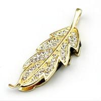 4gb 8gb 16gb 32gb USB Flash Drive Jewelry Leaves Crystal Maple leaf usb flash memory with Free shipping