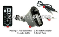 Car KIT MP3 Player Wireless FM Transmitter Modulator LCD USB SD MMC With Remote