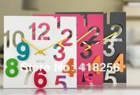 free shipping Hearts . living room wall clock home fashion three-dimensional digital clock mute cutout clock