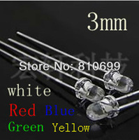 3 mm RGB trichromatic gradient LED light-emitting diodes, applicable to toys processing. 50 PCS/lot