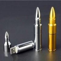 Cheap Enough Metallic Silver Bullets Model 2GB 4GB 8GB 16GB 32GB USB 2.0 Flash Memory Stick Drive Free Ship Gift