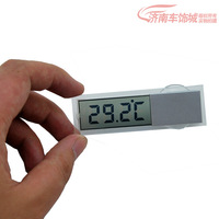 Car thermometer automotive table transparent lcd suction cup  Display  Fahrenheit  Display Celsius free shipping