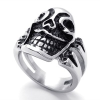 Punk rock accessories stainless steel hair accessory ring 761002035613